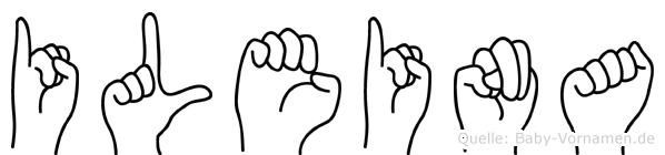 Ileina im Fingeralphabet der Deutschen Gebärdensprache