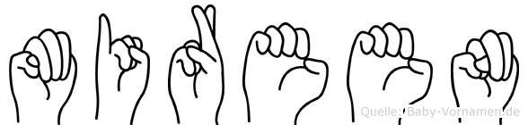Mireen im Fingeralphabet der Deutschen Gebärdensprache