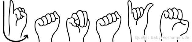 Janaye im Fingeralphabet der Deutschen Gebärdensprache