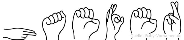 Haefer in Fingersprache für Gehörlose