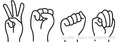 Wsam in Fingersprache für Gehörlose