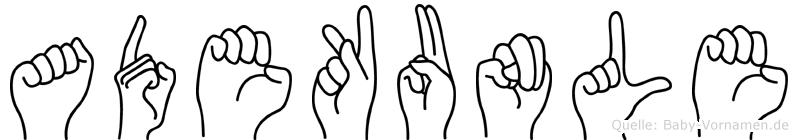 Adekunle in Fingersprache für Gehörlose