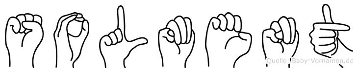 Solment im Fingeralphabet der Deutschen Gebärdensprache