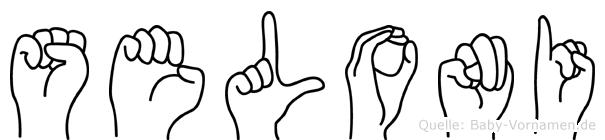Seloni im Fingeralphabet der Deutschen Gebärdensprache