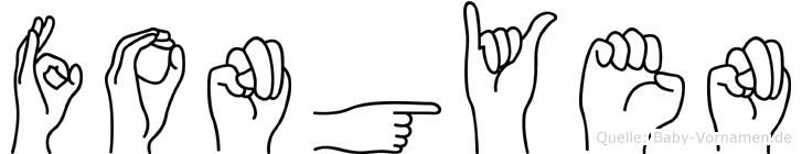 Fongyen im Fingeralphabet der Deutschen Gebärdensprache