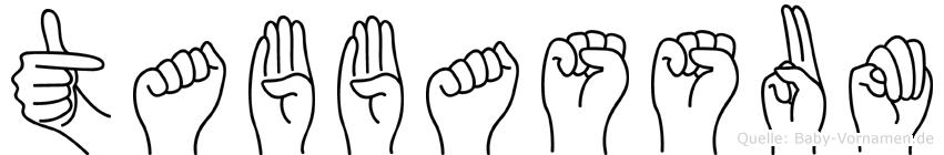 Tabbassum im Fingeralphabet der Deutschen Gebärdensprache