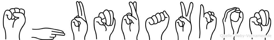 Shunravion in Fingersprache für Gehörlose