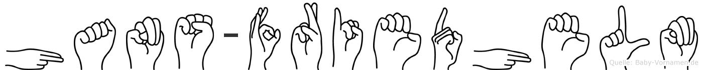 Hans-Friedhelm im Fingeralphabet der Deutschen Gebärdensprache
