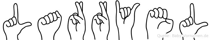 Larryel im Fingeralphabet der Deutschen Gebärdensprache
