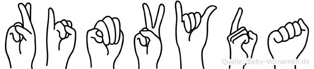 Rimvyda im Fingeralphabet der Deutschen Gebärdensprache