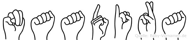 Naadira in Fingersprache für Gehörlose