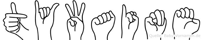 Tywaine in Fingersprache für Gehörlose