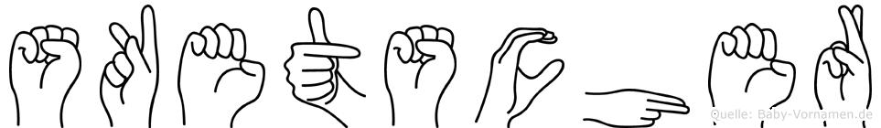 Sketscher in Fingersprache für Gehörlose