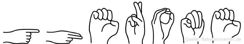 Gherome im Fingeralphabet der Deutschen Gebärdensprache