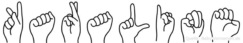 Karaline im Fingeralphabet der Deutschen Gebärdensprache