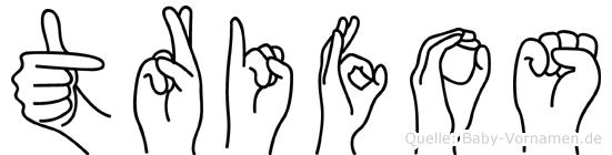 Trifos im Fingeralphabet der Deutschen Gebärdensprache
