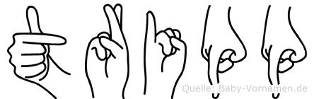 Tripp in Fingersprache für Gehörlose