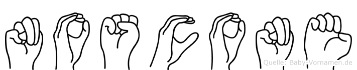 Noscone in Fingersprache für Gehörlose