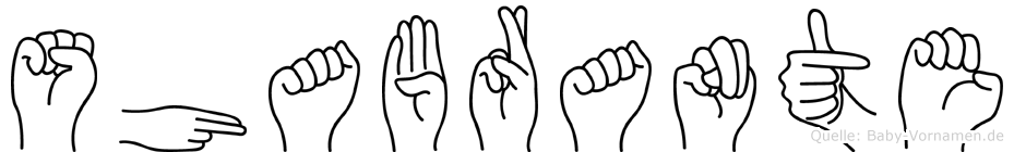 Shabrante in Fingersprache für Gehörlose