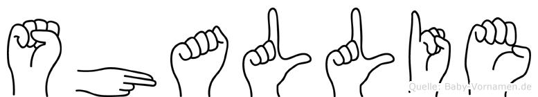 Shallie in Fingersprache für Gehörlose