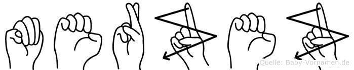 Merzez im Fingeralphabet der Deutschen Gebärdensprache
