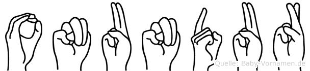Onundur in Fingersprache für Gehörlose