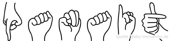 Panait im Fingeralphabet der Deutschen Gebärdensprache