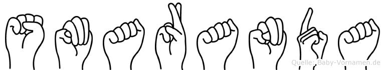 Smaranda im Fingeralphabet der Deutschen Gebärdensprache