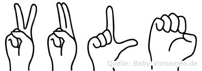 Vule im Fingeralphabet der Deutschen Gebärdensprache