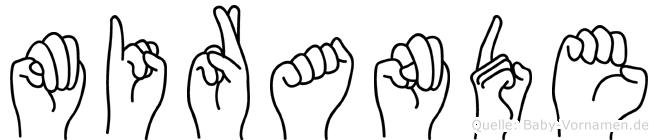Mirande im Fingeralphabet der Deutschen Gebärdensprache