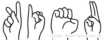 Kieu im Fingeralphabet der Deutschen Gebärdensprache