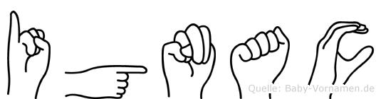 Ignac in Fingersprache für Gehörlose