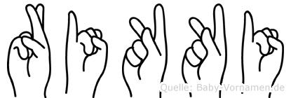 Rikki im Fingeralphabet der Deutschen Gebärdensprache