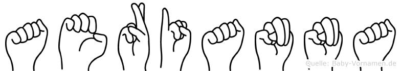 Aerianna im Fingeralphabet der Deutschen Gebärdensprache