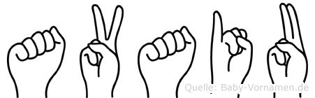 Avaiu in Fingersprache für Gehörlose