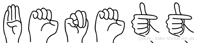 Benett in Fingersprache für Gehörlose