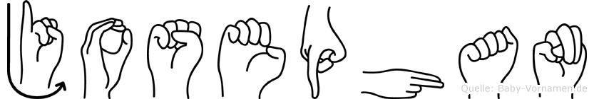 Josephan im Fingeralphabet der Deutschen Gebärdensprache