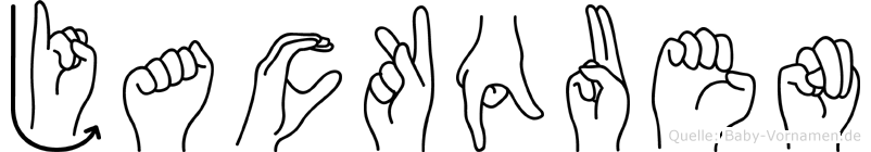 Jackquen im Fingeralphabet der Deutschen Gebärdensprache