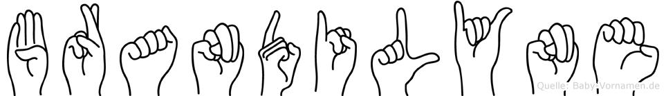 Brandilyne im Fingeralphabet der Deutschen Gebärdensprache