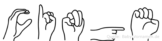 Cinge im Fingeralphabet der Deutschen Gebärdensprache