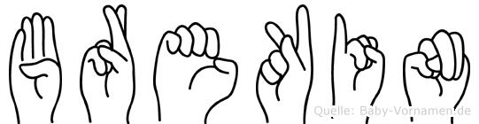 Brekin in Fingersprache für Gehörlose
