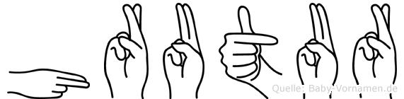 Hrutur in Fingersprache für Gehörlose