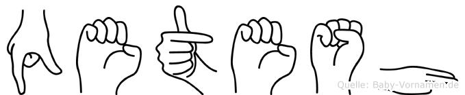 Qetesh in Fingersprache für Gehörlose