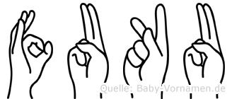 Fuku in Fingersprache für Gehörlose