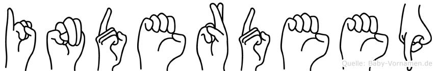 Inderdeep im Fingeralphabet der Deutschen Gebärdensprache