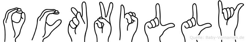 Ockvilly in Fingersprache für Gehörlose