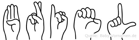 Briel im Fingeralphabet der Deutschen Gebärdensprache