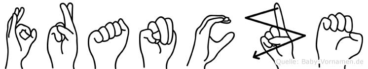 Francze in Fingersprache für Gehörlose