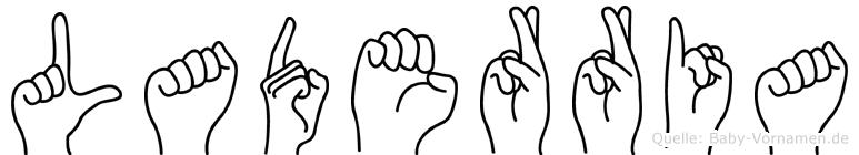 Laderria in Fingersprache für Gehörlose