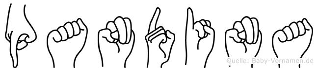 Pandina in Fingersprache für Gehörlose